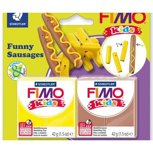 FIMO Kids Jeu Drôle De Paire, Bricolage À La Main, Des Fournitures D'Artisanat, Argile Polymère, Arg - Photo n°1