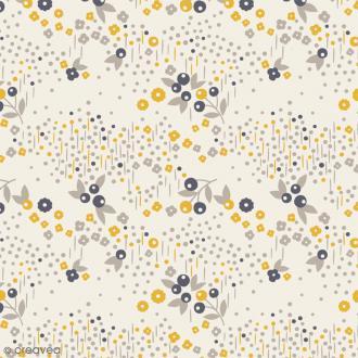 Tissu Atelier Brunette Mini Labo - Angèle - Par 10 cm (sur mesure)
