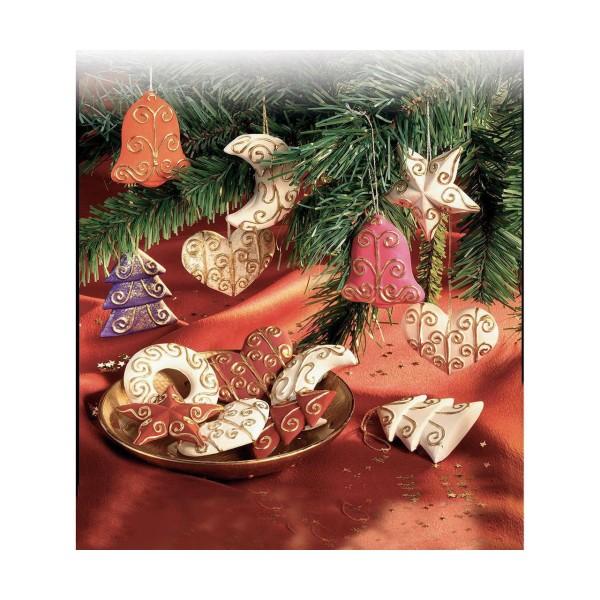 FIMO Moule En Silicone - Décorations De Noël, Décorations De Noël, Des Outils De Bricolage, De L'Arg - Photo n°2