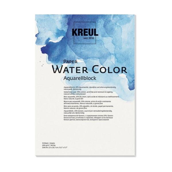 Papier aquarelle KREUL 200g / M2 - A4, Journal à la Main, Cadeau, Décoration de Papier de Couleur, P - Photo n°1