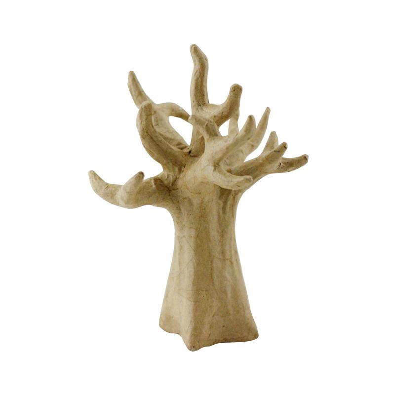 arbre porte bijoux ou d co en papier m ch 20 cm porte bijoux d corer creavea. Black Bedroom Furniture Sets. Home Design Ideas