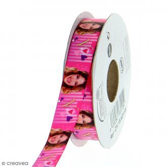 Ruban satin 15 mm Violetta vendu au mètre (sur mesure) - rose