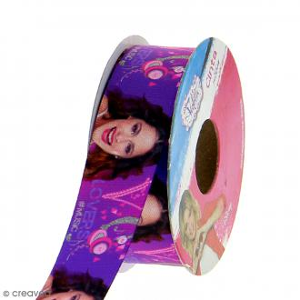 Ruban satin 25 mm Violetta vendu au mètre (sur mesure) - violet