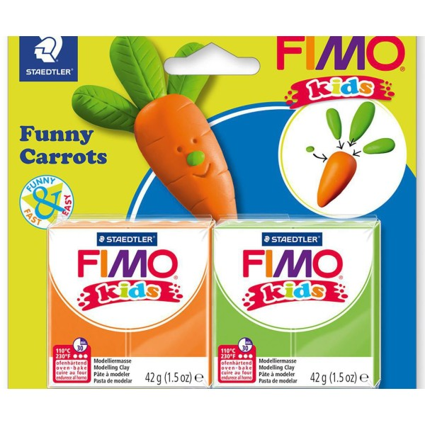 FIMO Kids Drôle Mrkev Ensemble, Bricolage À La Main, Des Fournitures D'Artisanat, Argile Polymère, A - Photo n°1