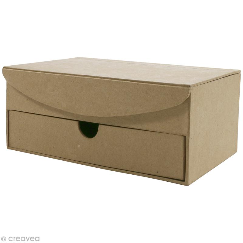 Boîte à bijoux à compartiments - 19 x 12,5 cm - Photo n°1