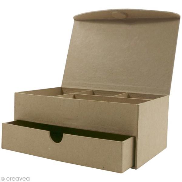 Boîte à bijoux à compartiments - 19 x 12,5 cm - Photo n°2