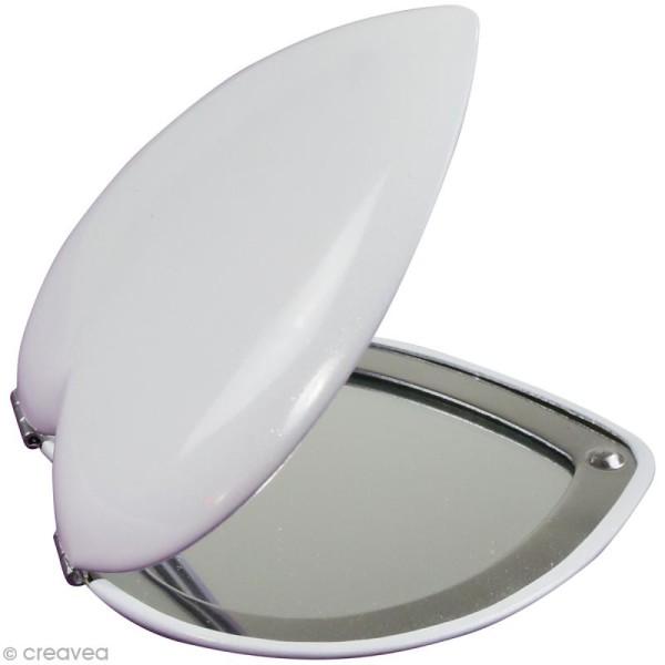 Miroir coeur à décorer Décopatch Chérie - 7 cm - Photo n°2