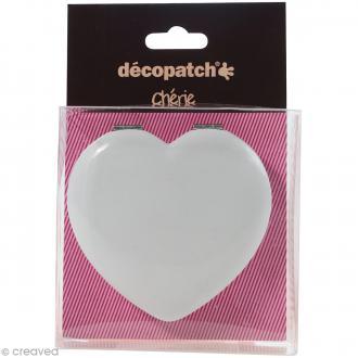 Miroir coeur à décorer Décopatch Chérie - 7 cm