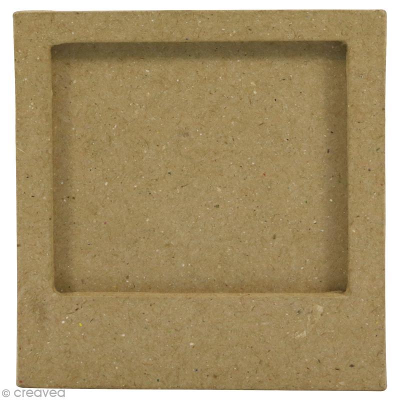 Cadre aimanté en papier mâché - 9 x 7,5 cm - Photo n°1