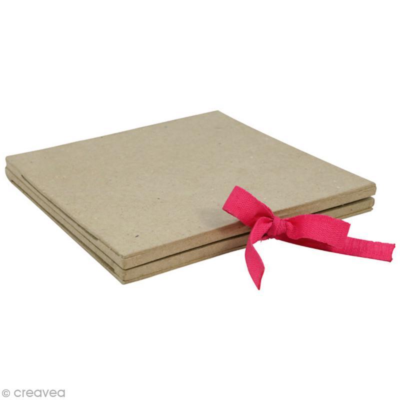 Cadre livre en papier mâché - 16 x 16 cm - Photo n°2