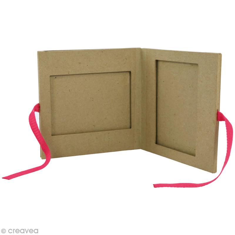 cadre livre en papier m ch 16 x 16 cm cadre photo d corer creavea. Black Bedroom Furniture Sets. Home Design Ideas