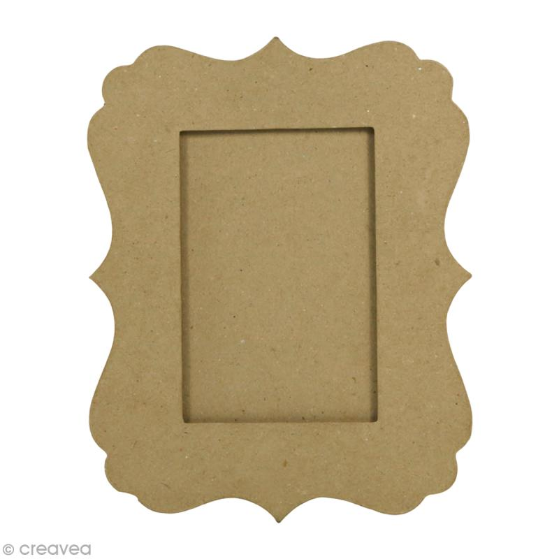 Cadre feston en papier mâché - 25 x 20 cm - Photo n°1