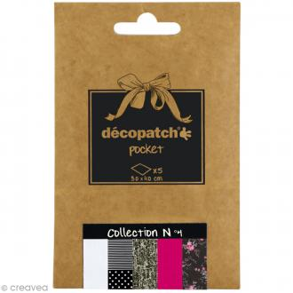 Papiers Décopatch Pocket - Collection n°4 - 30 x 40 cm - 5 pcs