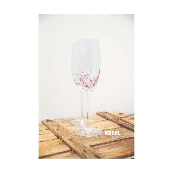 Le verre Et la Porcelaine KREUL Peinture Claire Bourgogne Rouge 20ml, Peinture d'Artisanat, de Color - Photo n°3