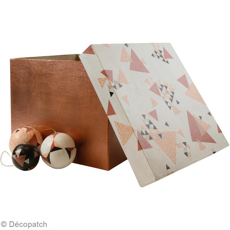 Décopatch Marron cuivré 697 - 1 feuille - Photo n°3
