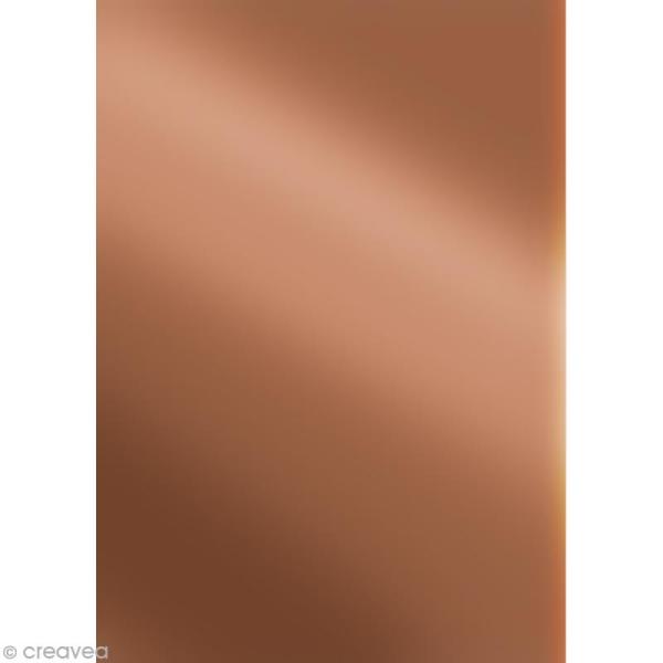 Décopatch Marron cuivré 697 - 1 feuille - Photo n°1