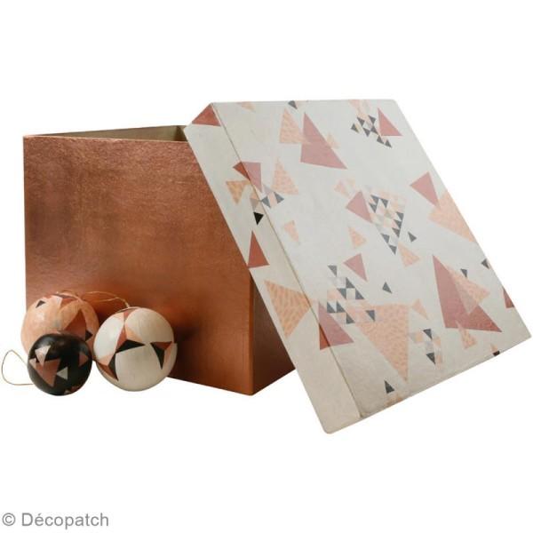 Décopatch Rose, marron 700 - 1 feuille - Photo n°2