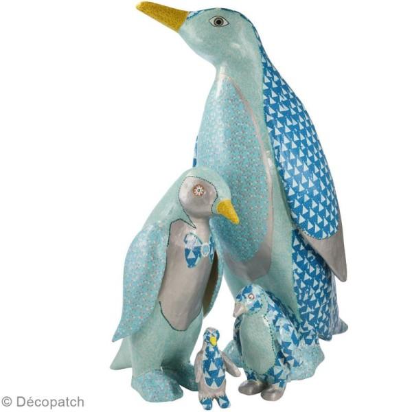 Décopatch Bleu motifs rosaces 701 - 1 feuille - Photo n°2