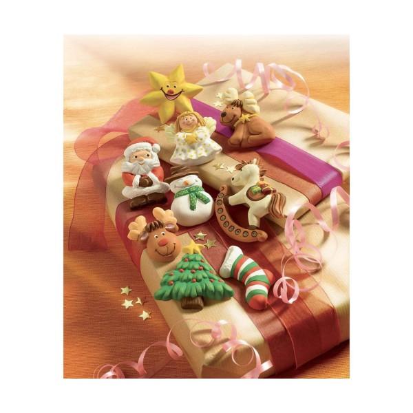FIMO Moule En Silicone - Joyeux Noël Joyeux Noël, De L'Argile Des Arrangements, De L'Argile Des Acce - Photo n°2