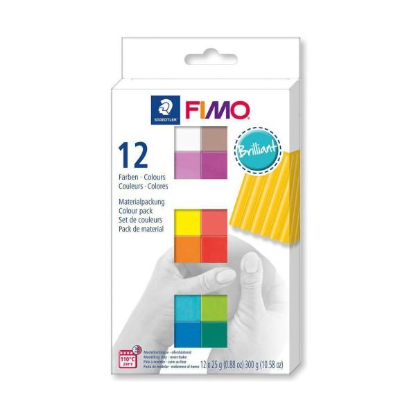 FIMO Soft Set De 12 Couleurs 25g Brillant, Bricolage à la Main, de l'Artisanat Fournitures, de l'Art - Photo n°1