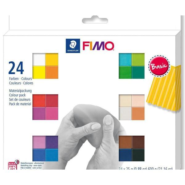 FIMO Soft Set De 24 Couleurs 25g de Base, Bricolage à la Main, de l'Artisanat Fournitures, de l'Arti - Photo n°1