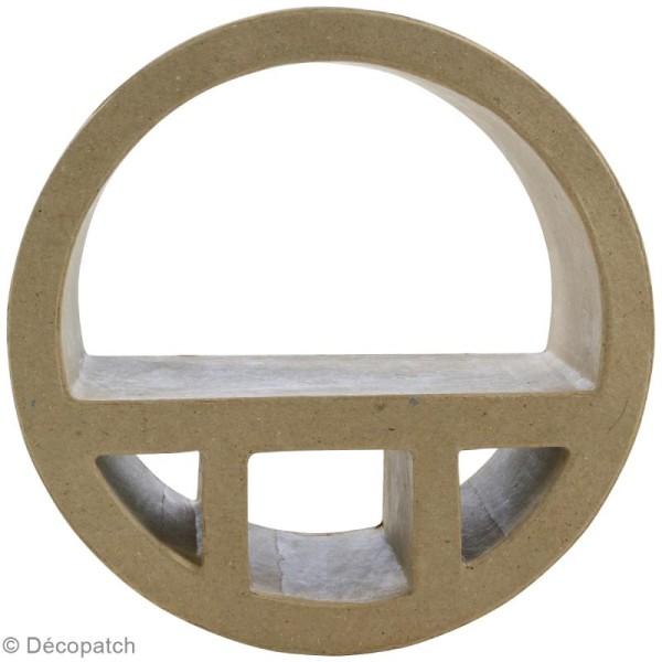Etagères ronde en papier mâché - 19 cm - Photo n°1