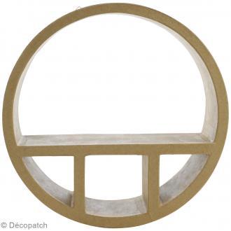 Etagères ronde en papier mâché - 35 cm