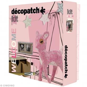 Kit créatif Welcome Décopatch - Faon et boîtes