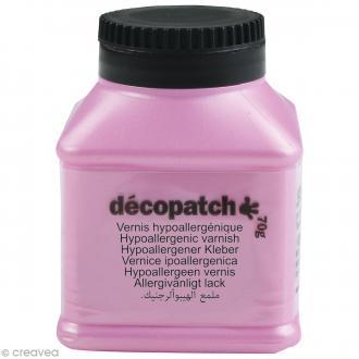 Vernis hypoallergénique Décopatch - 70 g