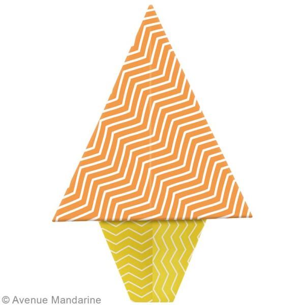 Origami mini - Néon - 240 feuilles de 7,5 x 7,5 cm - Photo n°2