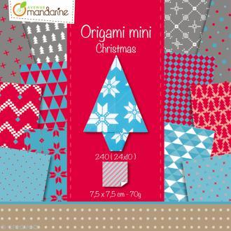 Origami mini - Christmas - 240 feuilles de 7,5 x 7,5 cm