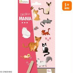 Transfert Décalco Mania - Chats - 2 planches de 19 x 10,2 cm