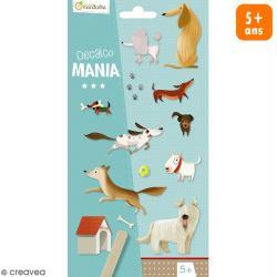 Transfert Décalco Mania - Chiens - 2 planches de 19 x 10,2 cm