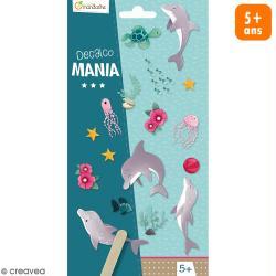 Transfert Décalco Mania - Dauphins - 2 planches de 19 x 10,2 cm
