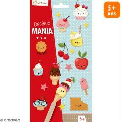 Transfert Décalco Mania - Cupcakes - 2 planches de 19 x 10,2 cm