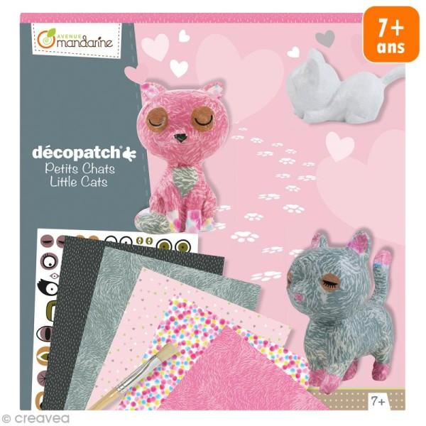 Kit créatif Décopatch - Petits chats à décorer - Photo n°1