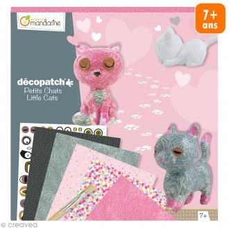 Kit créatif Décopatch - Petits chats à décorer