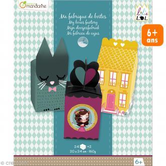 Kit créatif Ma fabrique de boîtes Lolielol - 20 x 24 cm