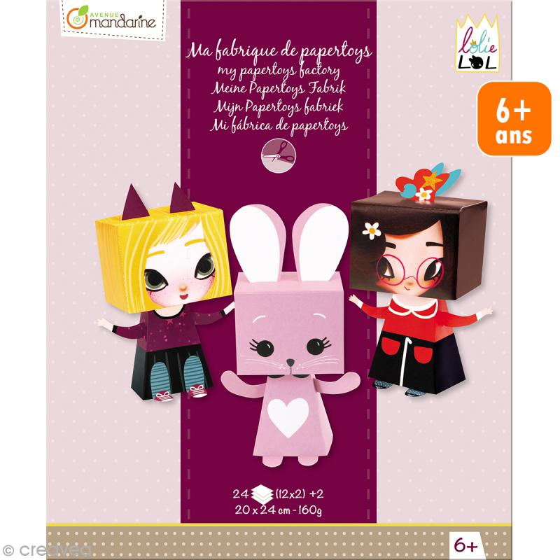 Kit créatif Ma fabrique de papertoys Lolielol - Photo n°1