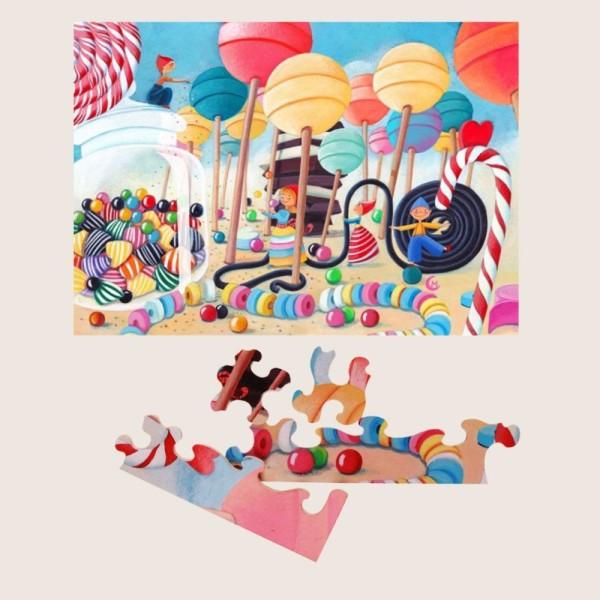 Puzzle MW Le pays des bonbons 50p - Photo n°2