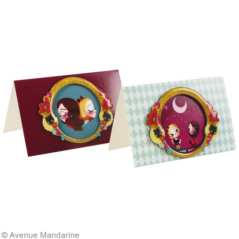 Carte avec magnet 3D Lolielol - 11,5 x 7,5 cm - Amie pour la vie - Photo n°2