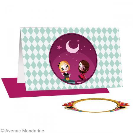 Carte avec magnet 3D Lolielol - 11,5 x 7,5 cm - Balade au clair de lune - Photo n°2