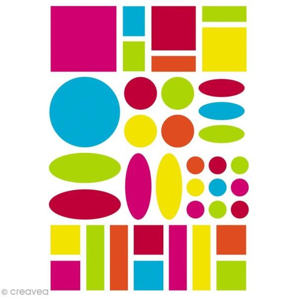 Autocollants Baby Géométriques 1  - couleurs vives - 280 pcs - Photo n°2