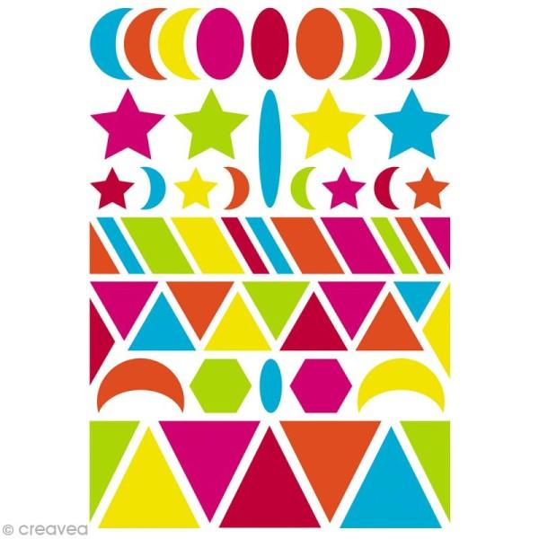 Autocollants Baby Géométriques 1  - couleurs vives - 280 pcs - Photo n°3