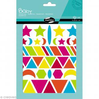 Autocollants Baby Géométriques 1  - couleurs vives - 280 pcs