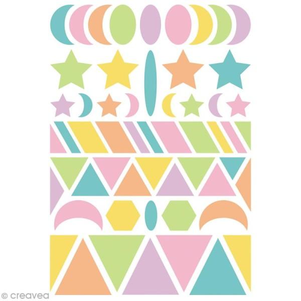 Autocollants Baby Géométriques 2 - couleurs pastels - 280 pcs - Photo n°3