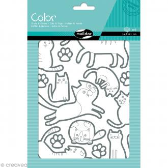 Autocollants Color - Chien et chat - 100 pcs