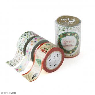 Masking Tape - Assortiment Noël Authentique - 15 mm / 20 mm / 25 mm x 7 m