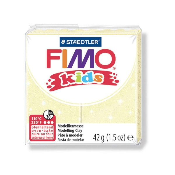 FIMO Kids 42g - Bébé Modélisation Perle Jaune, des Fournitures d'Artisanat, Argile Polymère, Argile - Photo n°1