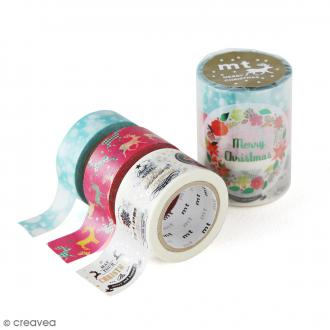 Masking Tape - Assortiment Noël Coloré - 15 mm / 20 mm / 25 mm x 7 m